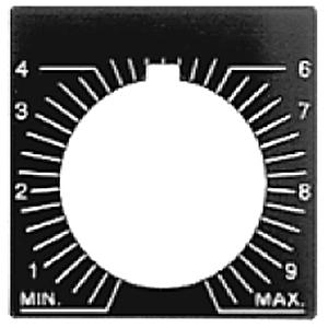 "Allen-Bradley 800H-W081 Legend Plate, Potentiometer, Text, ""SPEED"", Plastic, 4/4X/13, 30mm"