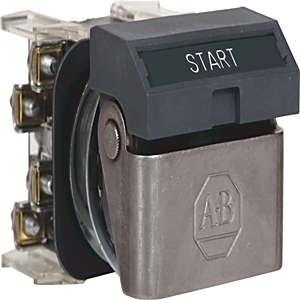 Allen-Bradley 800H-WK42A Push Button, Flip Lever Operator, Gray, START, 1NO/1NC, Contacts