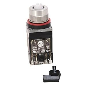 Allen-Bradley 800MR-JH9BLAK Selector Switch, 3-Position, Black Knob, B Cam, 1NO/1NC, 22.5mm