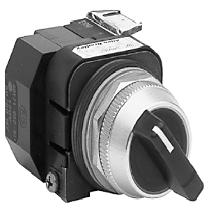 Allen-Bradley 800T-16JG2KB7AX Selector Switch, 3-Position, Green, Illuminated, 120VAC, Knob