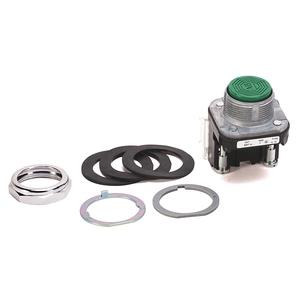 Allen-Bradley 800T-A1A Push Button, Flush Head, Green, 30mm, Momentary, NEMA 4/13