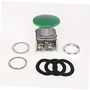 Allen-Bradley 800T-D2 Push Button, Mushroom Head, Momentary, 30mm, Black, Operator Only
