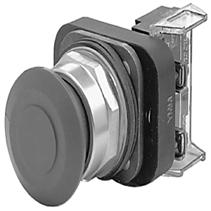 Allen-Bradley 800T-FX2A1 Push Button, Push-Pull, Black, 30mm, 1NO/1NCLB, NEMA 4/13