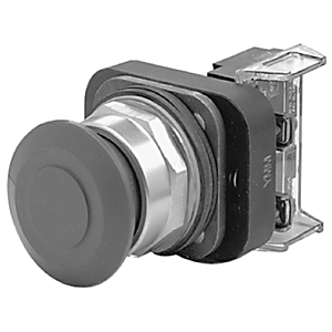 Allen-Bradley 800T-FX6A1 Push Button, Push-Pull, Red, 30mm, 1NO/1NCLB, NEMA 4/13