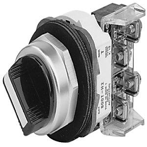 Allen-Bradley 800T-H4B Selector Switch, 2-Position, Spring Return from Left, 30mm, Knob