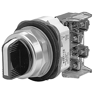 Allen-Bradley 800T-J91A Selector Switch, 3-Position, 30mm, Knob, Spring Return from Both