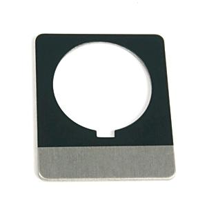 Allen-Bradley 800T-N516E Custom Engraved Nameplate, 18mm, Gray, Metal, Type B, 800T