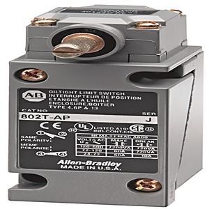 Allen-Bradley 802T-AP1 Limit Switch, NEMA 4/13, Plug-In, Lever Type, Spring Return