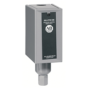 Allen-Bradley 836-C3A Pressure Switch, Type 1 Enclosure, 0.8-30 PSI, Adjustable Range