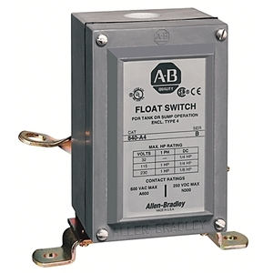Allen-Bradley 840-A1 Switch, Automatic Float, Type 1, 115/230VAC, 32VDC, 2P, 1HP
