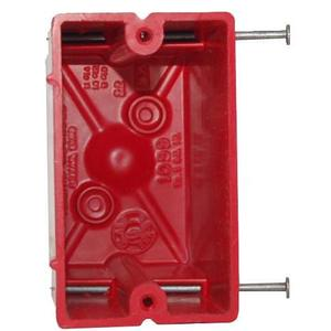 Allied Moulded 1099-NRED 1-Gang, Nail-On, Fire Alarm Box