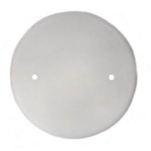 "Allied Moulded 9315-WH Round Box Cover, Blank, Diameter: 4-1/2"", White, Non-Metallic"