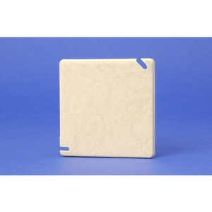 "Allied Moulded 9344 Square Box Cover, Blank, Diameter: 4"", White, Non-Metallic"