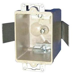 """Allied Moulded 9361-ESC2 Switch/Outlet Box, 1-Gang, Depth: 2-7/8"""", Ear Brackets, Non-Metallic"""