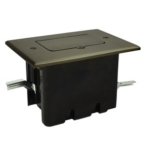 Allied Moulded FB-6N 1-Gang, Floor Box Assembly, Metallic