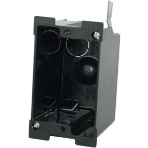 """Allied Moulded P-116OW Switch/Outlet Box, 1-Gang, 2-5/8"""" Deep, New/Old Work, Non-Metallic"""