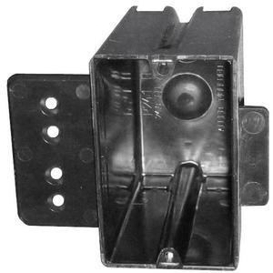 "Allied Moulded P-241HQT Switch/Outlet Box, 1-Gang, Depth: 3-9/16"", Bracket, Non-Metallic"