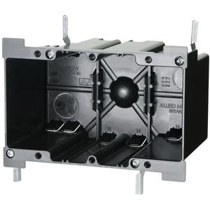 """Allied Moulded P-352OW Switch/Outlet Box, 3-Gang, Depth: 3-25/64"""", Old Work, Non-Metallic"""