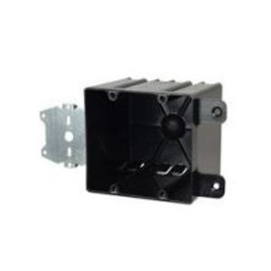 """Allied Moulded P-442HQT Switch/Outlet Box with Bracket, Depth: 3-9/16"""", 2-Gang, Non-Metallic"""