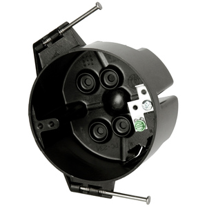"""Allied Moulded PC234-NG 4"""" Round Fixture Support Box, Depth: 2-5/16"""", Nail-On"""