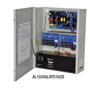 Altronix AL1024ULXPD16CB Power Supply/Charger, 16 x 10A, 24VDC, Output, 115VAC Input, NEMA 1