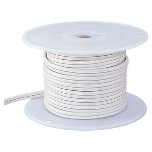 Ambiance Lighting 9471-15 10/2 Indoor Low Voltage Cable, White, 100'