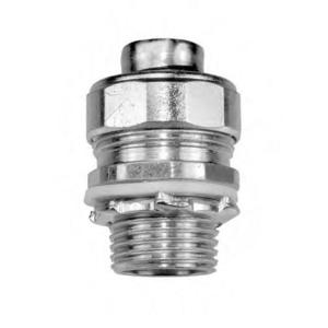 """American Fittings Corp STR50 Liquidtight Connector, 1/2"""", Straight, Material/Finish: Steel/Zinc"""