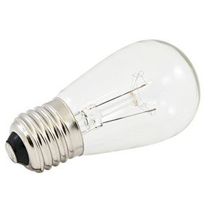 American Lighting B11S14-CL Miniature Incandescent Bulb, S14, 11W, 130V, Clear
