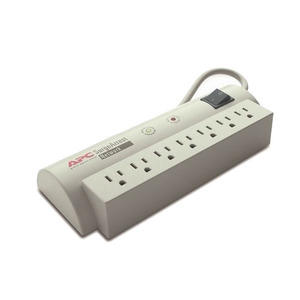American Power Conversion NET7 Surge Arrest Strip, 7-Outlet, Home/Office, Ivory, 15A, 120V