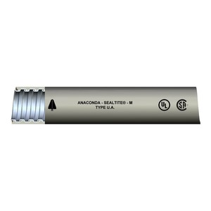 "Anamet 34212 Liquidtight Metal Conduit, Type UA, 1/2"", Gray, 100'"
