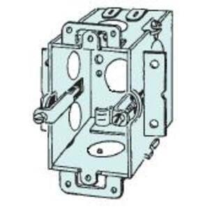 Appleton 384-OW Switch Box, Old Work Bracket, 1-Gang, Drawn, Metallic