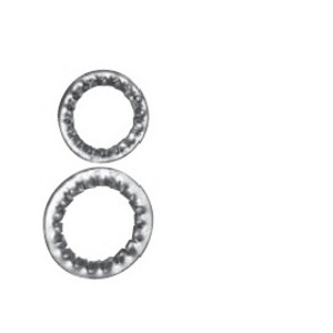 Appleton 40SW4 Serrated Washer, M40 Metric, Stainless Steel