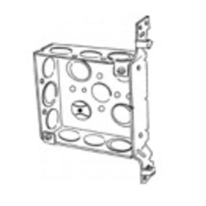 """Appleton 4SAB-EK 4"""" Square Box, Welded, Metallic, 1-1/2"""" Deep, Vertical Bracket"""