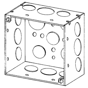 "Appleton 4SDSPLRD 4"" Square Box, Welded, Metallic, 2-1/8"" Deep"