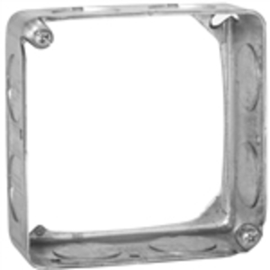 "Appleton 4SES 4"" Square Extension Ring, 1-1/2"" Deep, Drawn, Metallic"