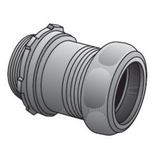 Appleton 7050S EMT Compression Connector, 1/2 inch, Steel, Concrete Tight