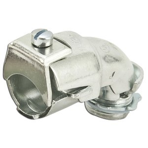 "Appleton 7247V AC/Flex Connector, Duplex, 3/4"", 45°, Malleable Iron"