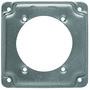 """Appleton 8378 4"""" Square Exposed Work Cover, (1) Single Receptacle, 1/2"""" Raised"""