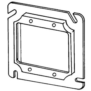 "Appleton 8486B 4-11/16"" Square Cover, Raised 1/4"", 2-Device, Steel"
