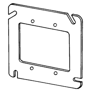 "Appleton 8486F 4-11/16"" Square Fixture Cover, Mud Ring, Flat, Drawn, Steel"