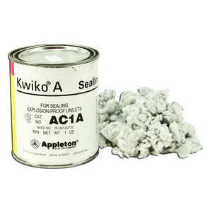 Appleton AC1F01A Kwiko® A Sealing Cement and Fiber Filler Kit 16.00 Ounce Cement/1 Ounce Fiber