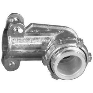 "Appleton AC95 AC/Flex Connector, 1/2"", 90°, 2-Screw Clamp, Zinc Die Cast"