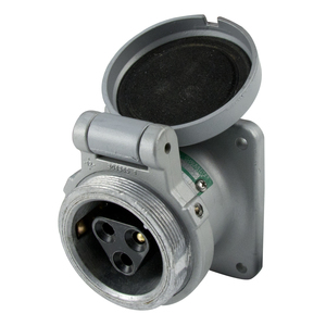 Appleton ADR6033 Pin & Sleeve Receptacle, 60 Amp, 3-Pole, 3-Wire