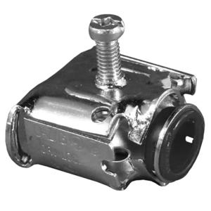 "Appleton AMC-52 AC/Flex Connector, Screw, 1/2"", Steel, Insulated, Duplex"