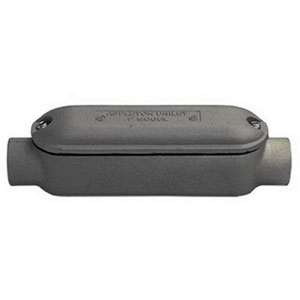 """Appleton BC400-M Conduit Body With Cover/Gasket, Type: Mogul C, 4"""", Malleable Iron"""