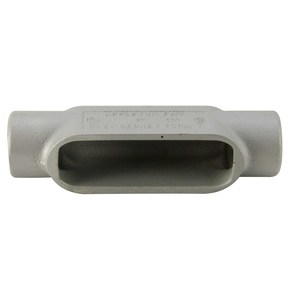 "Appleton C17 Conduit Body, Type: C, Size: 1/2"", Form 7, Malleable Iron"