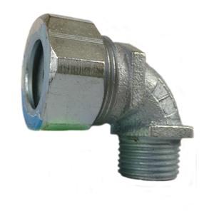 "Appleton CG90-3750S Cord/Cable Connector, Strain Relief, Liquidtight, 90°, 1/2"""