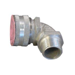 """Appleton CG90-3775 Liquidtight Strain Relief Cord Connector, 90°, 3/4"""", Aluminum"""
