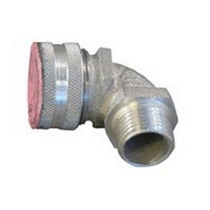"""Appleton CG90-5050 Liquidtight Strain Relief Cord Connector, 90°, 1/2"""", Aluminum"""