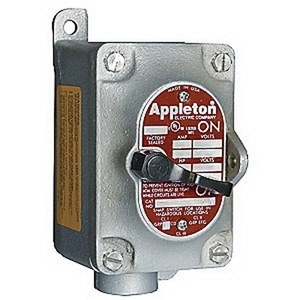Appleton EDS1129 1-g 1/2 Snap Switch Sta-fs